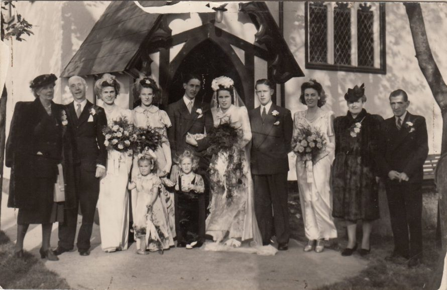 Wedding of Rosalie and Gray Nobbs at St Katherines Church. Gary was the manager at Ives shoe shop | Wendy Baker