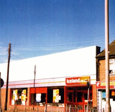 Haystack pub and Iceland, formerly the Canvey market and before that the Co-operative store.