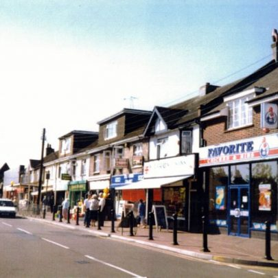 Shops in Furtherwick Road with its junction with Lionel Road in the foreground. | Wendy Knight