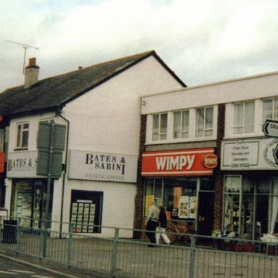 The old Wimpy Bar and shops opposite the Haystack.  | Wendy Knight
