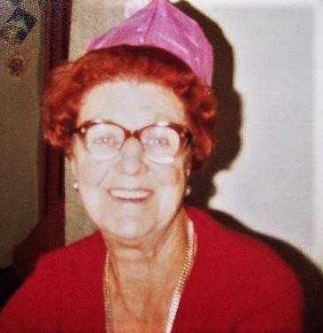 Nanny Lou enjoying christmas 1981