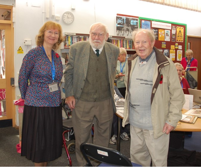 Our Chair Janet Walden, Heritage Centre Chair Don McClean and Ray Howard MBE | Rod Bishop