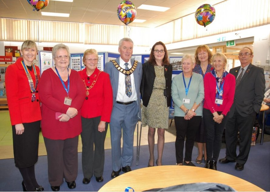 President CI Rotary Tracy Winch, Janet Penn CCA, Mayor Alan Alcott and his wife Ann, Rebecca Harris MP, Robbie Banthorpe CCA, Janet Walden CCA, Marian Patten CCA and Mike Machine Rotarian. | Rod Bishop