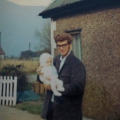Dad with me in Central Avenue 1970