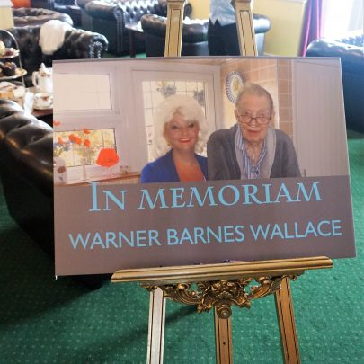 Memorial of Warners life at the Monico Estuary rooms