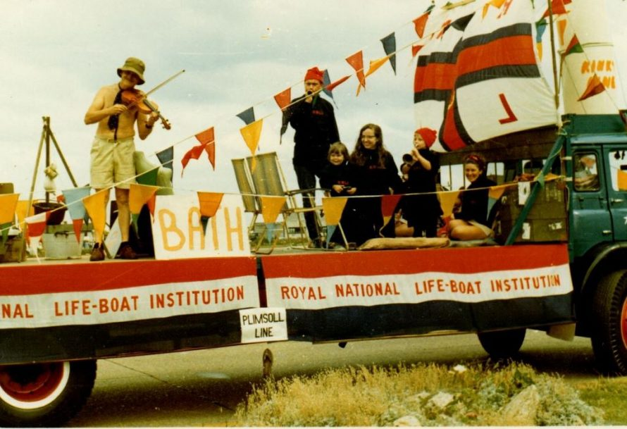 RNLI float in Canvey's Carnival.