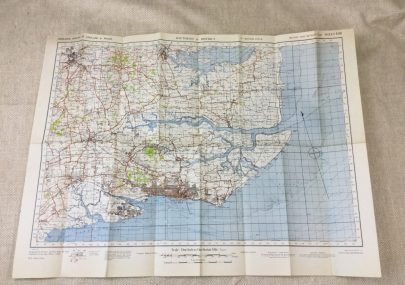 Map of Southend and District Dated 1942