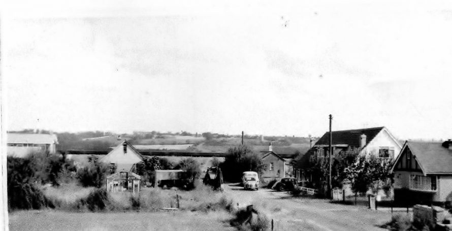Looking towards the seawall. Castle view bungalow on the left. View seen from the upstairs of George's home. | George Beecham