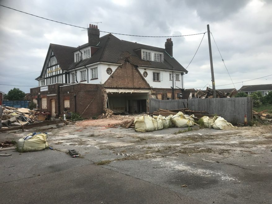 Admiral Jellicoe demolition started (but halted) in May 2019.
