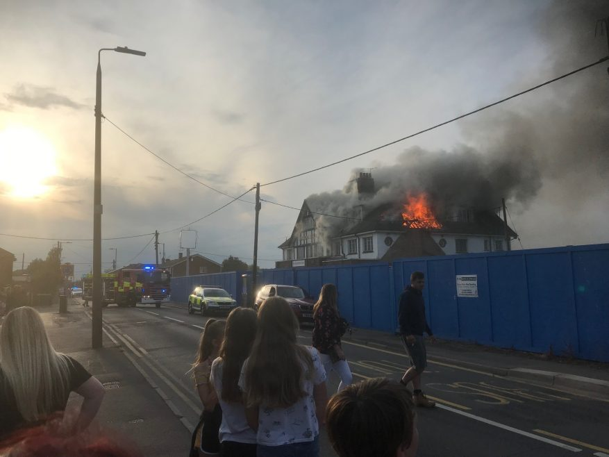 Admiral Jellicoe fire (1) on 10th July 2019.