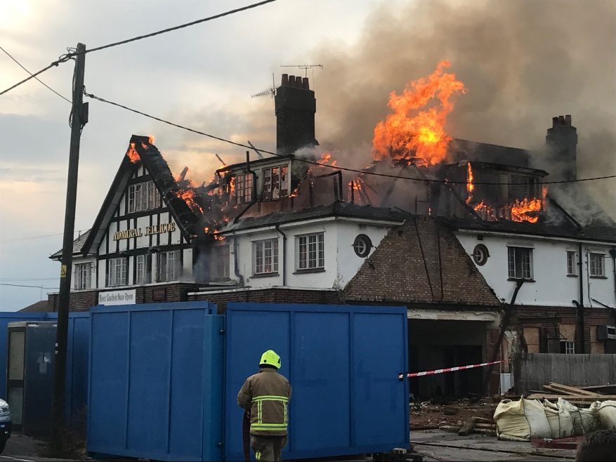 Admiral Jellicoe fire (2) on 10th July 2019.
