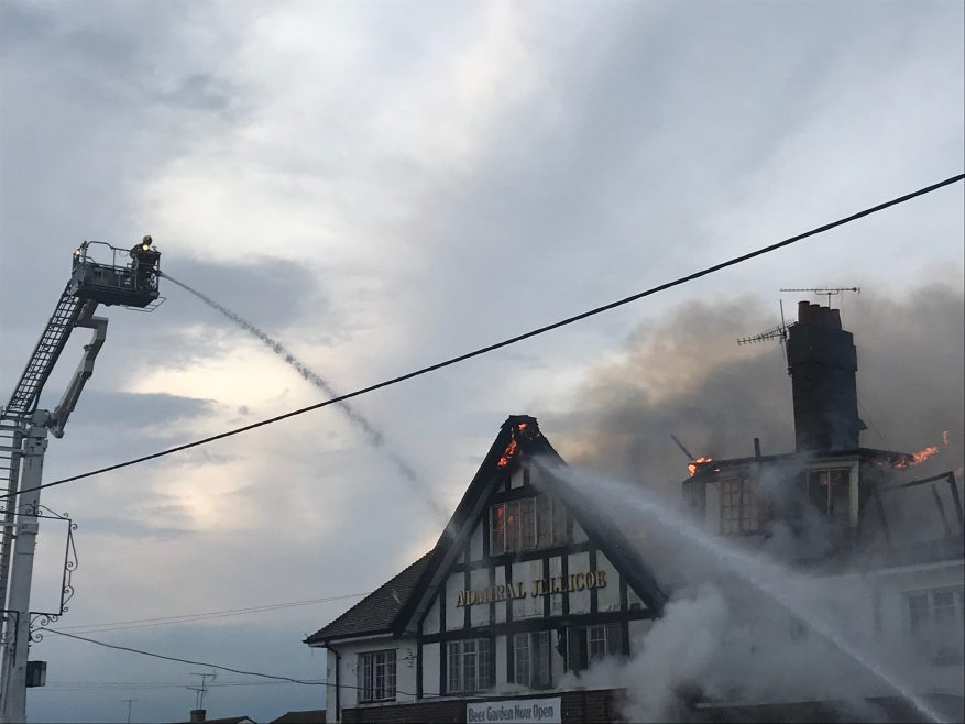 Admiral Jellicoe fire (3) on 10th July 2019.