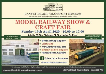 CANCELLED Model Railway Show and Craft Fayre