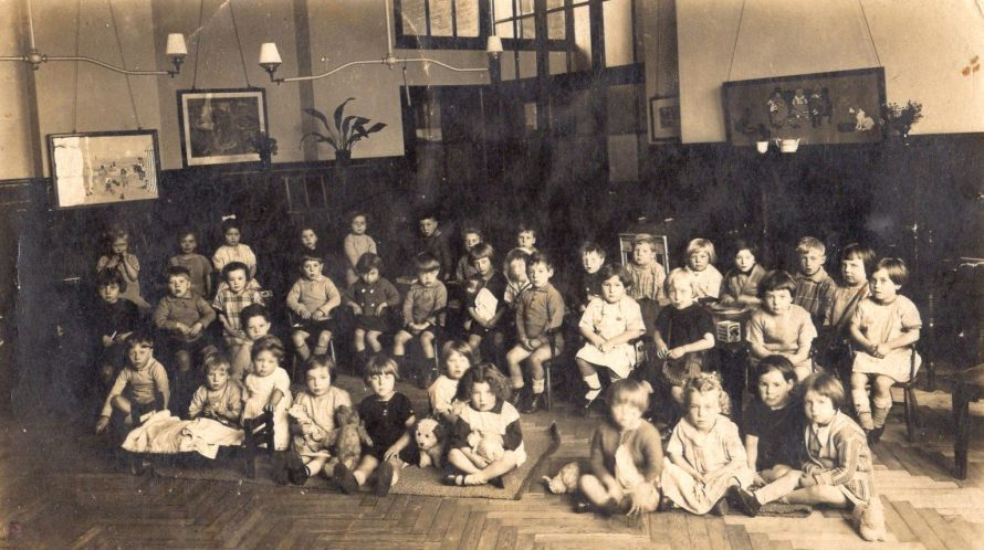 My sister is in the middle of the front row wearing a dark dress. I believe this is Whittier Hall School.  | Maureen Buckmaster