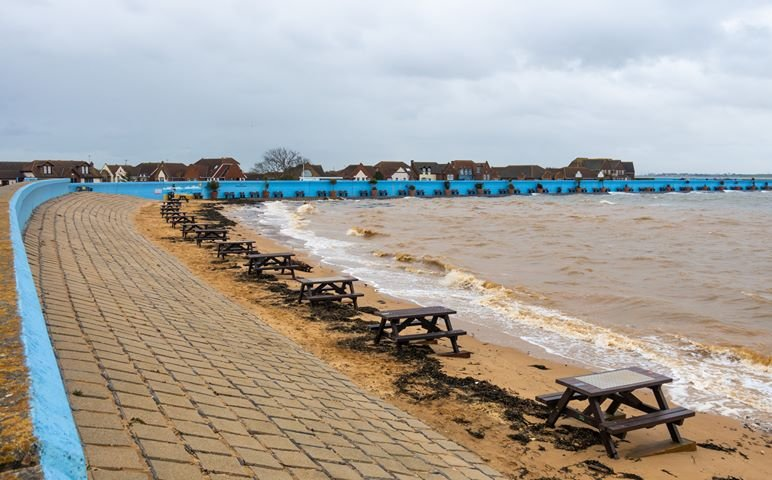 Thorney Bay after a very hightide   Michael Lewis