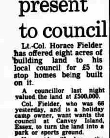 Colonel's £50,000 birthday present to the council