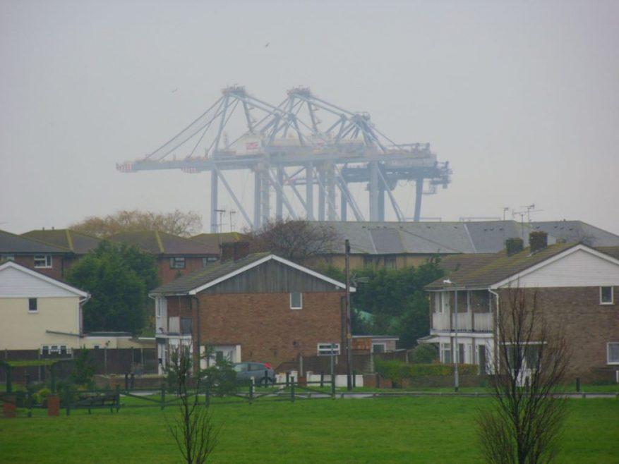 Disembodied or  perhaps 'disemshipped' cranes. | J.Walden