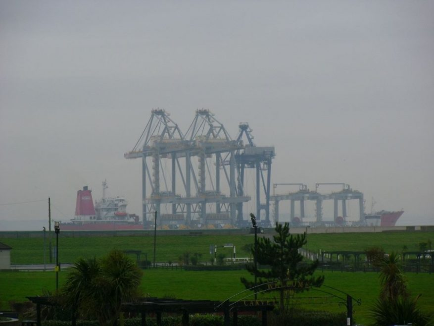 The cranes passing Canvey. | J.Walden