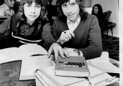 Echo Newspaper photo of Paul and Peter van der Kerkhoff.