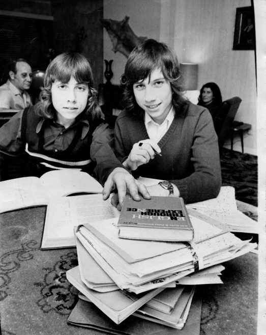 Paul and Peter at home tackling their homework. | Echo Newspaper Group