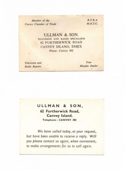 L. Ullman business cards. | J.Walden