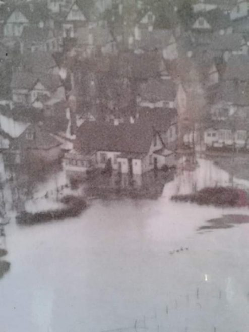 15 Welbeck Road during the floods. Home of Phyllis Owen