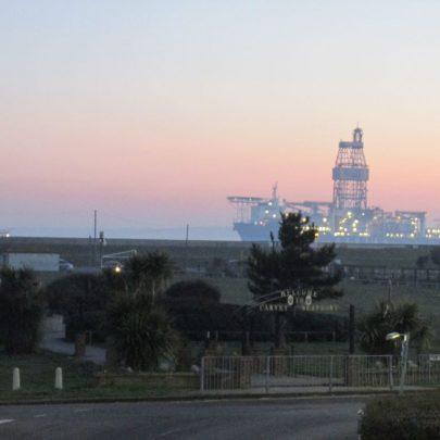 The gas drilling platform revealed. | J.Walden