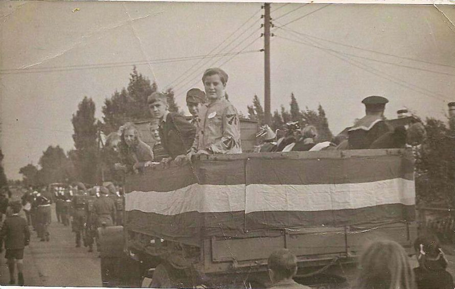 Canvey Carnival approximately 1947 with Sylvia Angerstein