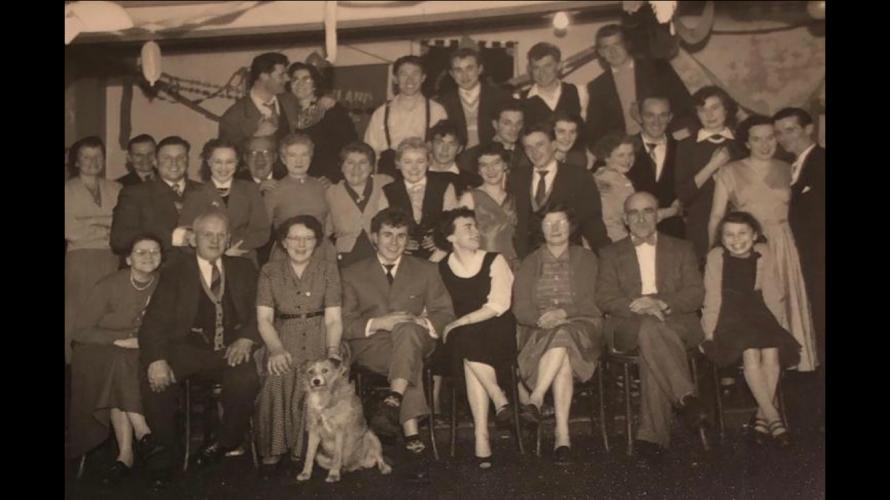 Jackie and Mick Ogden Wedding Reception  January 1956