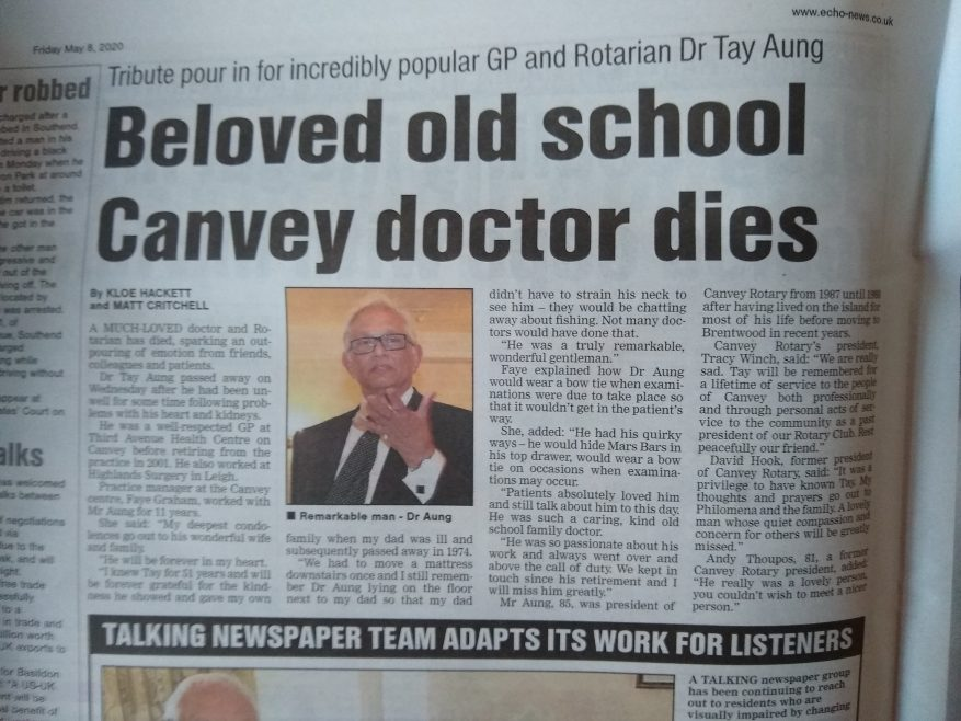 Dr Tay Aung RIP