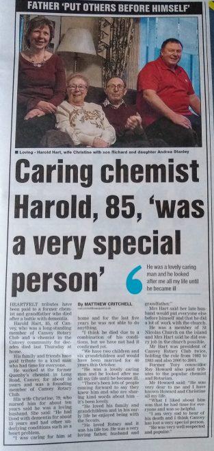 Harold Hart RIP