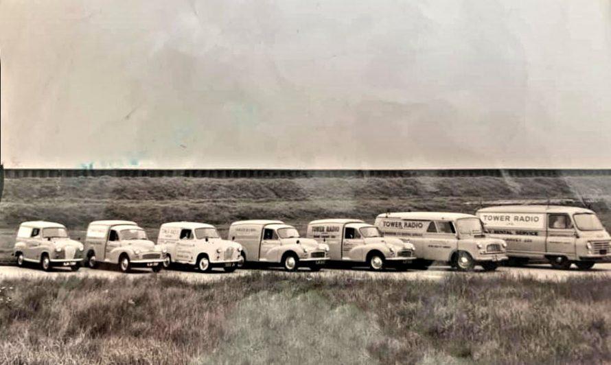 Tower Radio's fleet of vans from the 1960s