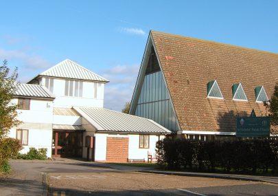 The West window of St Nicholas Church