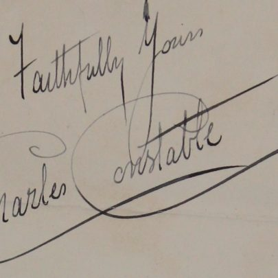 Charles Constable's signature taken from the 1914 building application