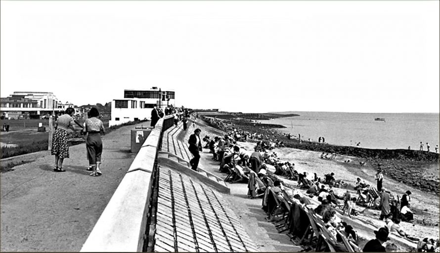 Labworth and Seawall c1955