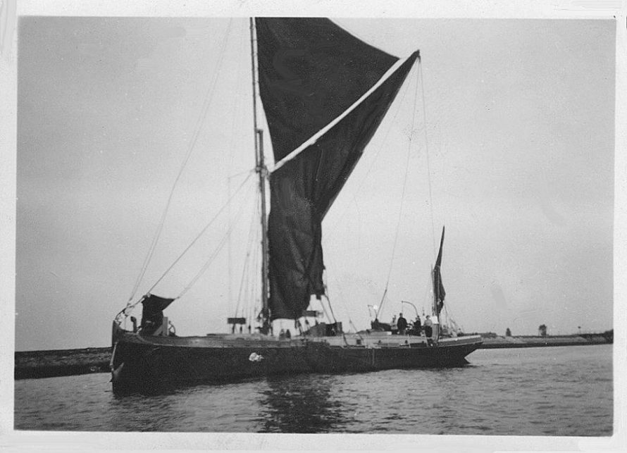 A Spritsail Barge or Thames Barge - taken in the mid 1950's | Trish Nicholls