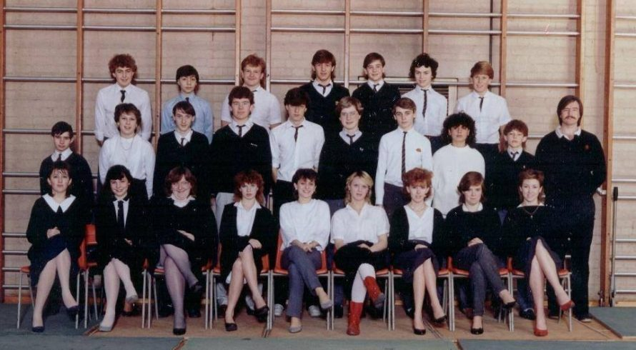 The photo was taken at Furtherwick park school sports hall 1985. I am centre of the picture | David Thomas