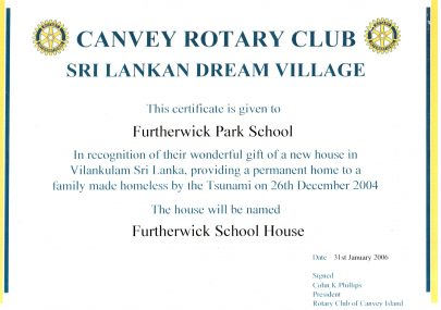 Canvey Rotary Village in Sri Lanka