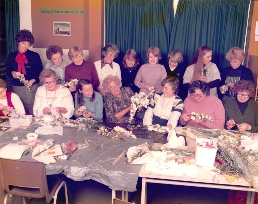 Flower Arranging Evening Classes | Courtesy of Canvey Bus Museum