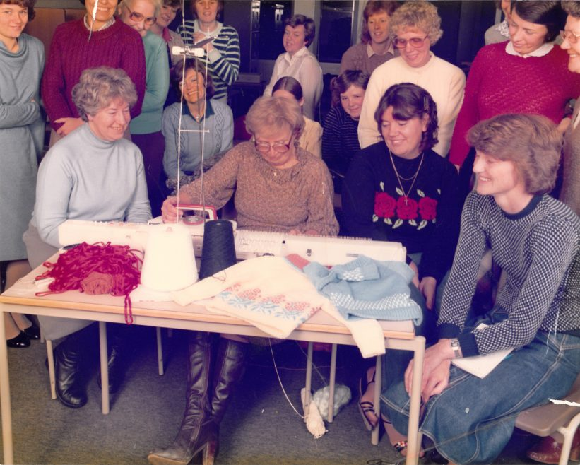Knit one purl one | Courtesy of Canvey Bus Museum