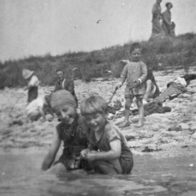 Fun on the beach in 1927