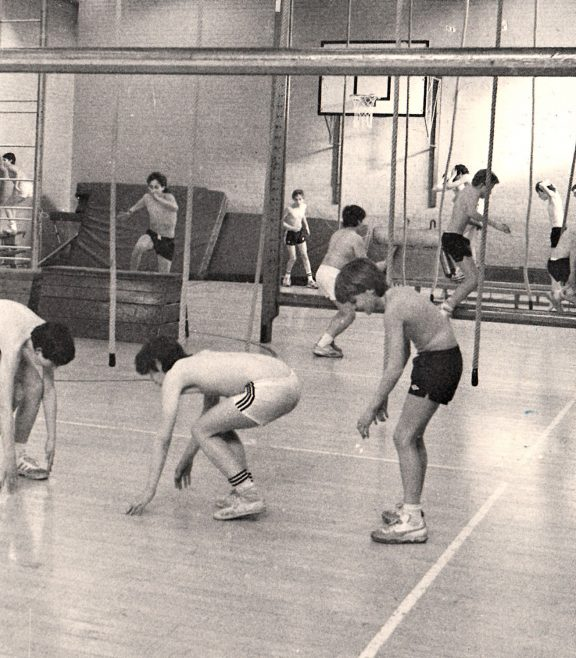 Gym classes   Courtesy of Canvey Bus Museum