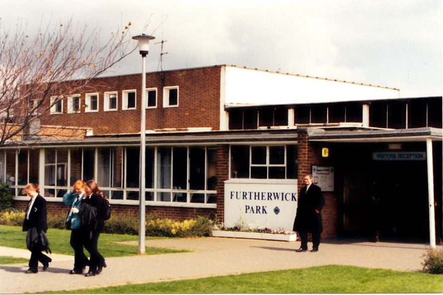 Entrance to Furtherwick School | Courtesy of Canvey Bus Museum