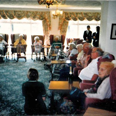 Furtherwick at an old people's home | Courtesy of Canvey Bus Museum