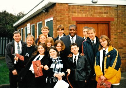 Frank Bruno drops in