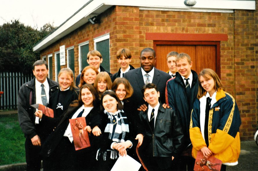 Frank Bruno drops in | Courtesy of Canvey Bus Museum