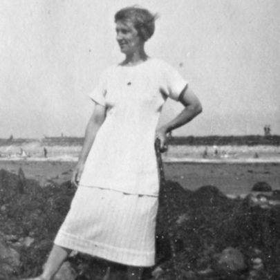 Fun on the beach in 1927