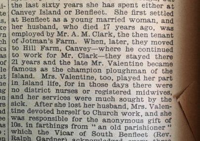 Mr Valentine - Champion Ploughman