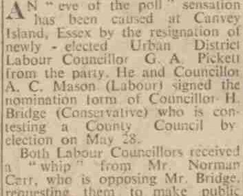 Labour man resigns in Canvey row