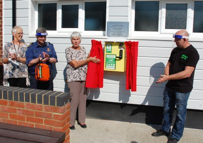 Donation of a Defibrillator at The War Memorial Hall